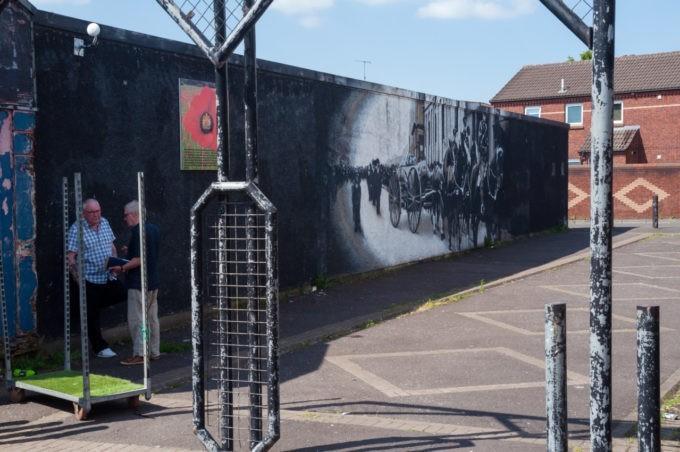 Oeuvres artistiques sur le mur de Belfast