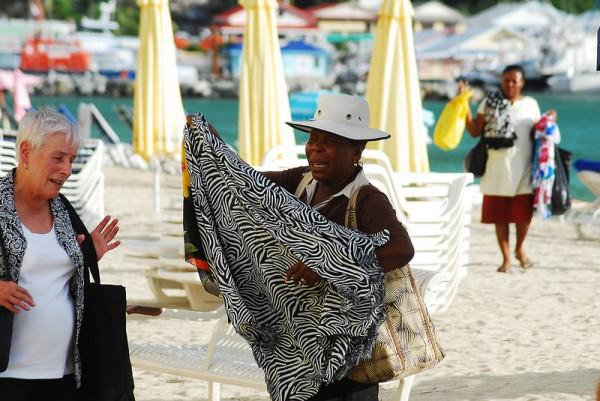 Voyage à Saint Martin sur la plage
