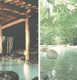 Détente dans les onsens au Japon