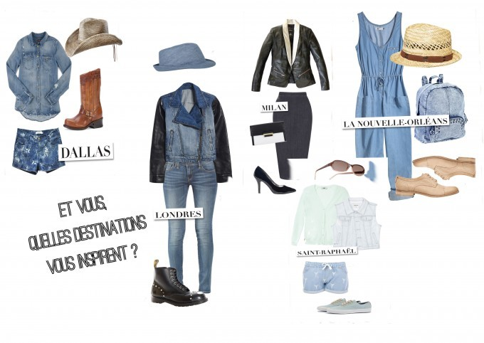 5 destinations pour 5 looks en jean