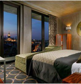 Du haut de l'hôtel Uptown Palace à Milan