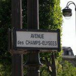 L'avenue des Champs Elysées à Paris