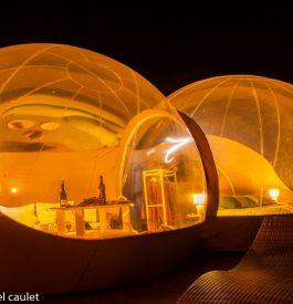 Dormir dans des bulles transparentes