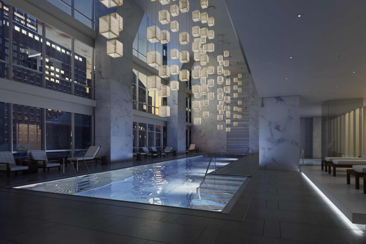 La piscine de L'Hôtel Park Hyatt à New York