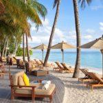 Un luxueux paradis tropical dans les Maldives se façonne