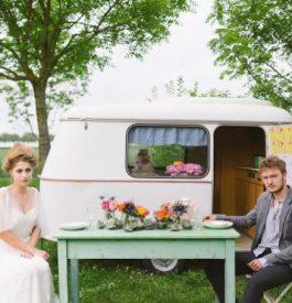 Voyage au pays du mariage dans un esprit guinguette