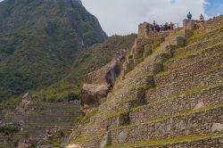 Malgré l'altitude et le dénivelé, les constructions sont bien places au Machu Picchu