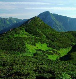 Se rapprocher de l'île d'Hokkaido au Japon