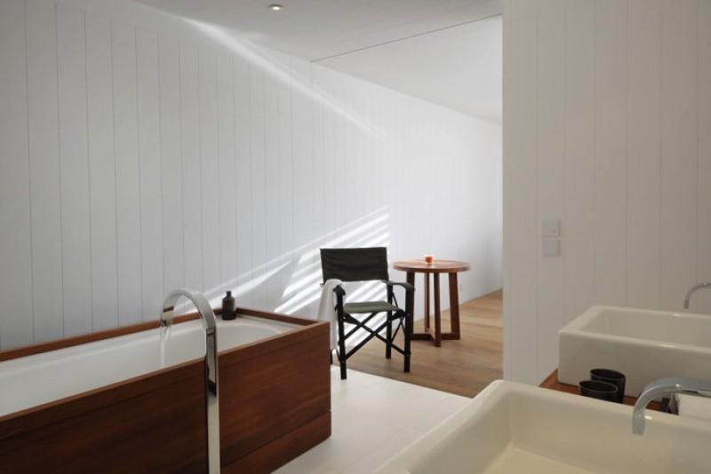 Espace salle de bain de luxe à Saint Barthélemy au Sereno Saint Barth