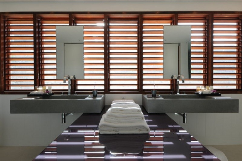 Salle de bain de luxe à Saint Barthelemy au Sereno Saint Barth
