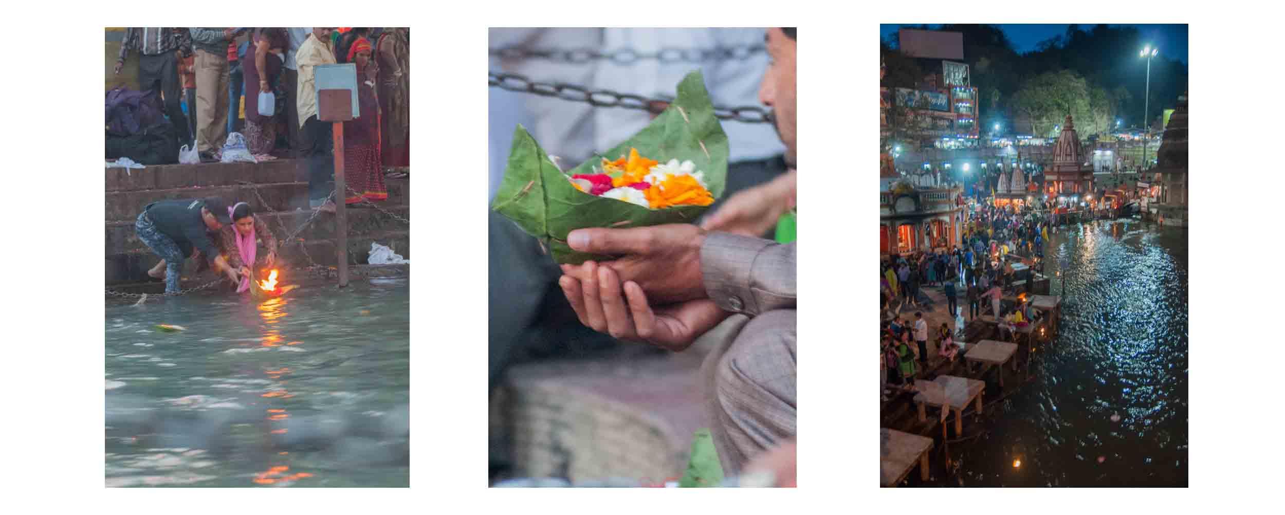 Sur le bord du Gange, la cérémonie des fleurs débute à Haridwar en Inde !