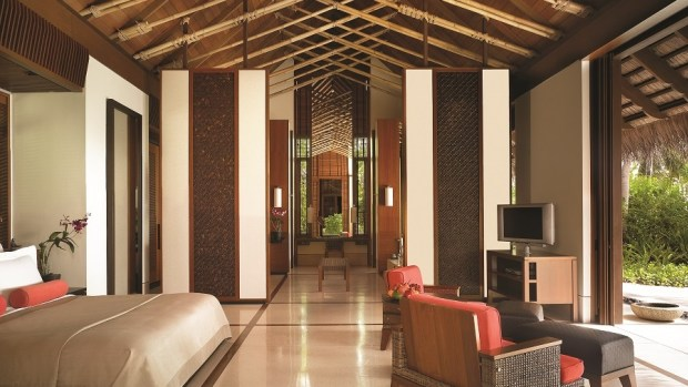 La chambre du One and Only aux Maldives