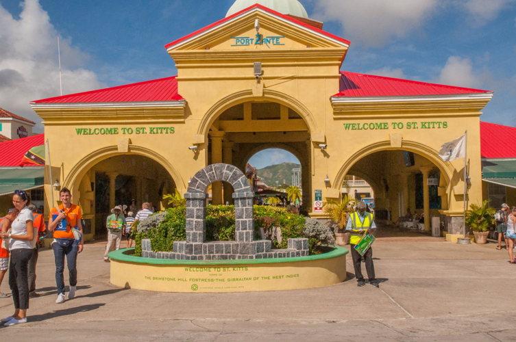 L'arrivée à Saint Kitts - costa croisières