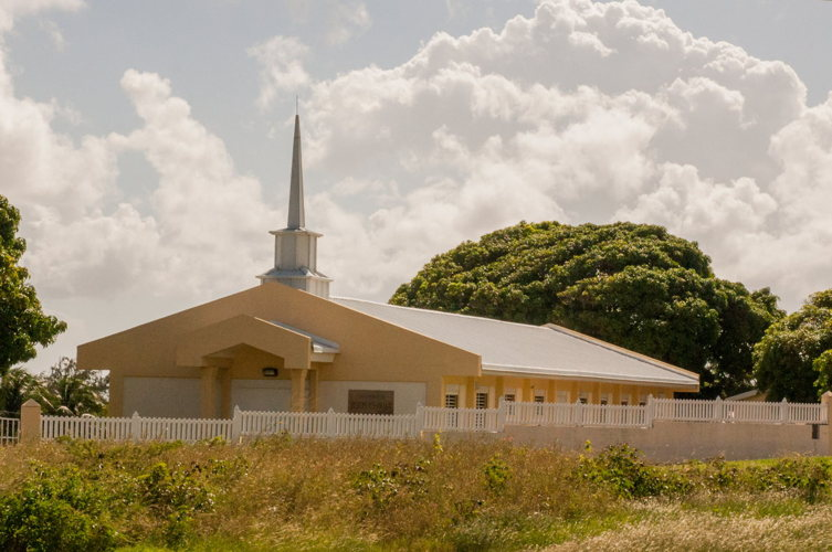 Une église anglicane à Saint Kitts