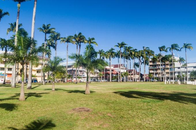 La place des Palmistes à Cayenne