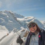 Face à nous, le Mont Blanc
