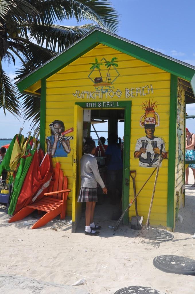 Cabane sur la plage à Nassau