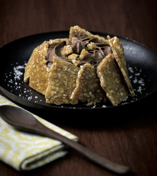 Tartelette Nougatine et mousse de chocolat