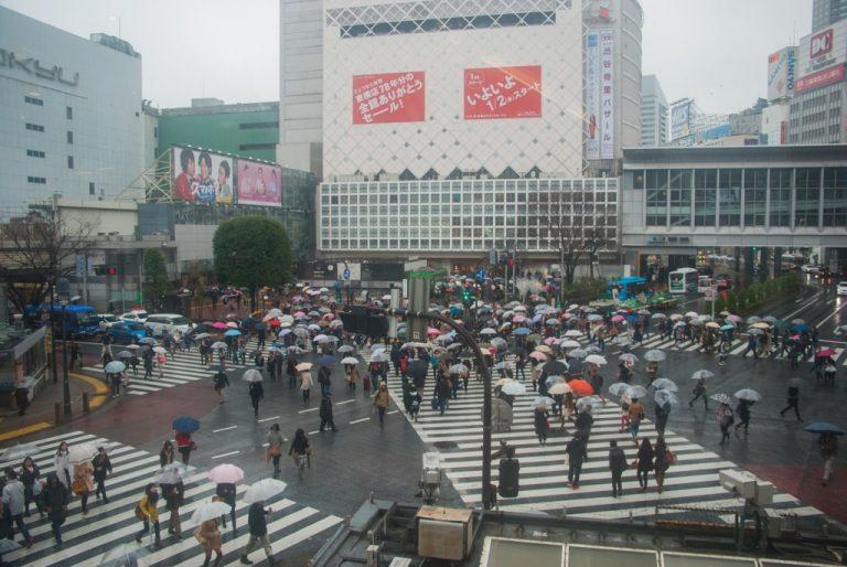 Vu du Starbuck Tokyo Shibuya Japon