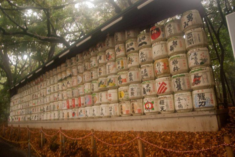 Les tonneaux de saké - Tokyo - Japon