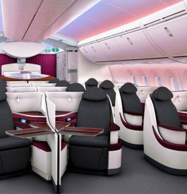 Dans l'avion avec Qatar Airways Dreamliner Business Class
