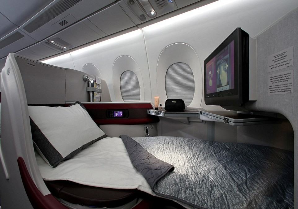 Bonne nuit avec Qatar Airways Dreamliner Business Class