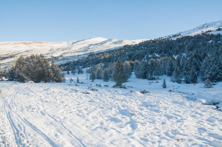 Paysage enneige en Andorre
