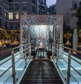 Jardin d'hiver éphémère du Royal Monceau