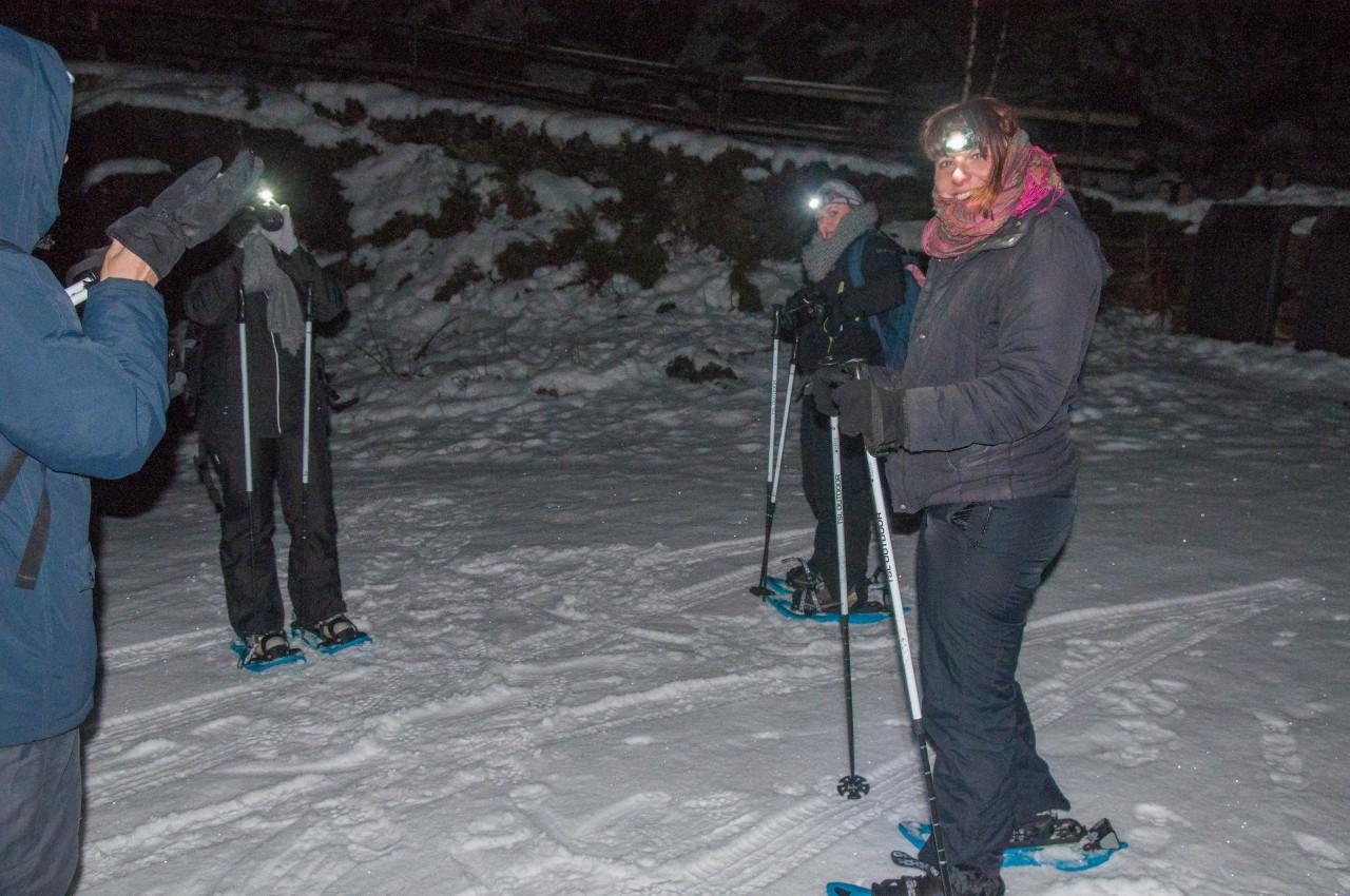 Partir en raquette en randonnée de nuit en Andorre