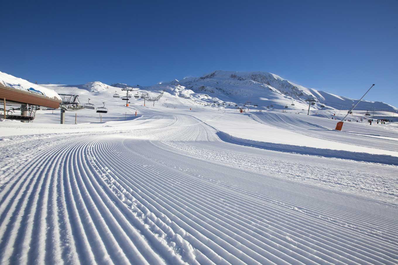 station de ski de l'Alpe d'Huez dans les Alpes
