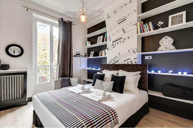 Chambre de luxe à l'appartement Sweet Inn à Paris