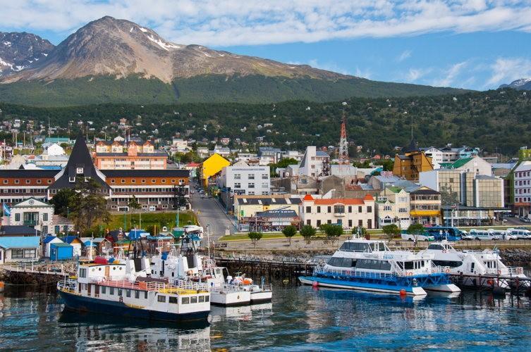 Le port d'Ushuaïa en Argentine