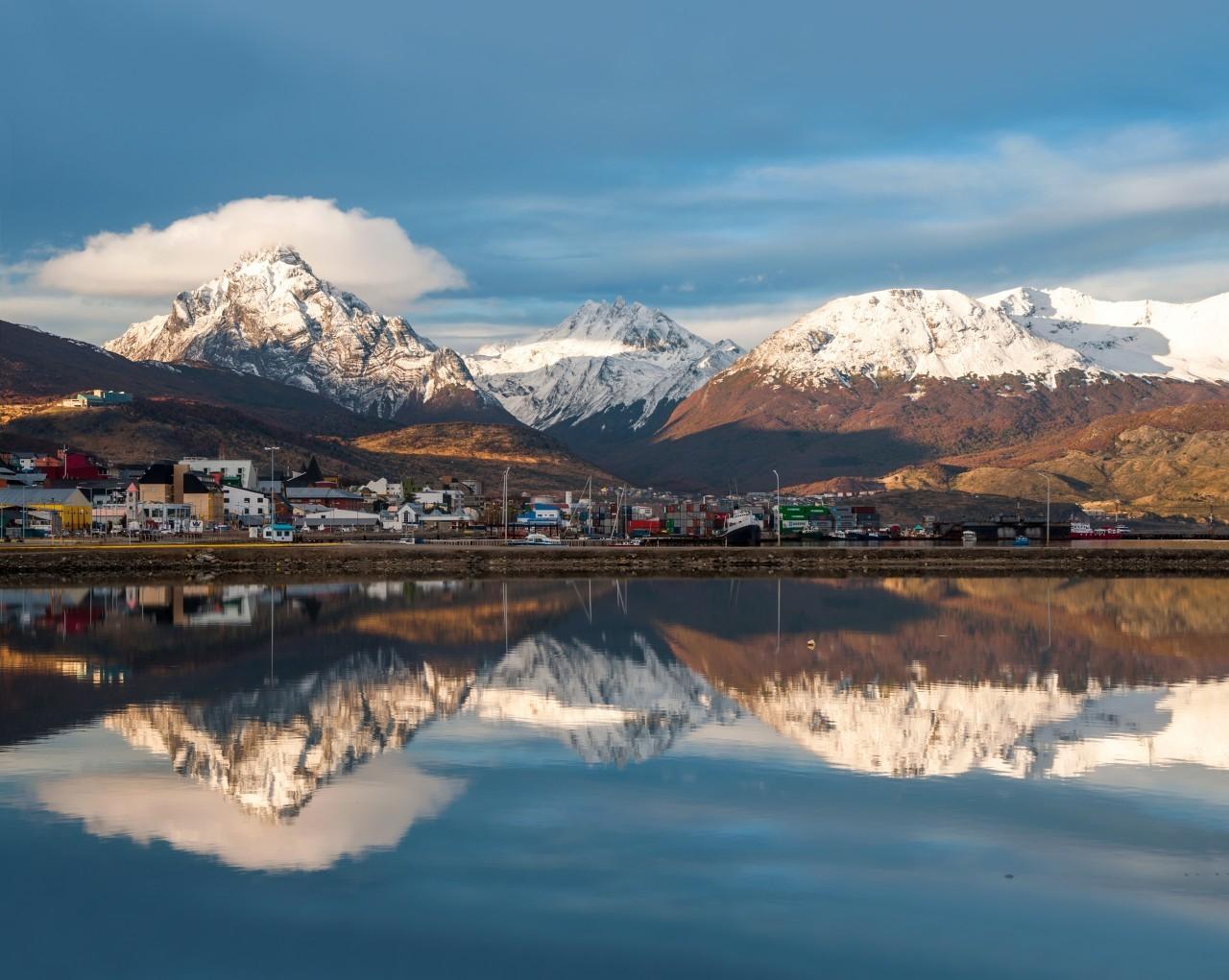 Le calme et le silence à Ushuaïa en Argentine