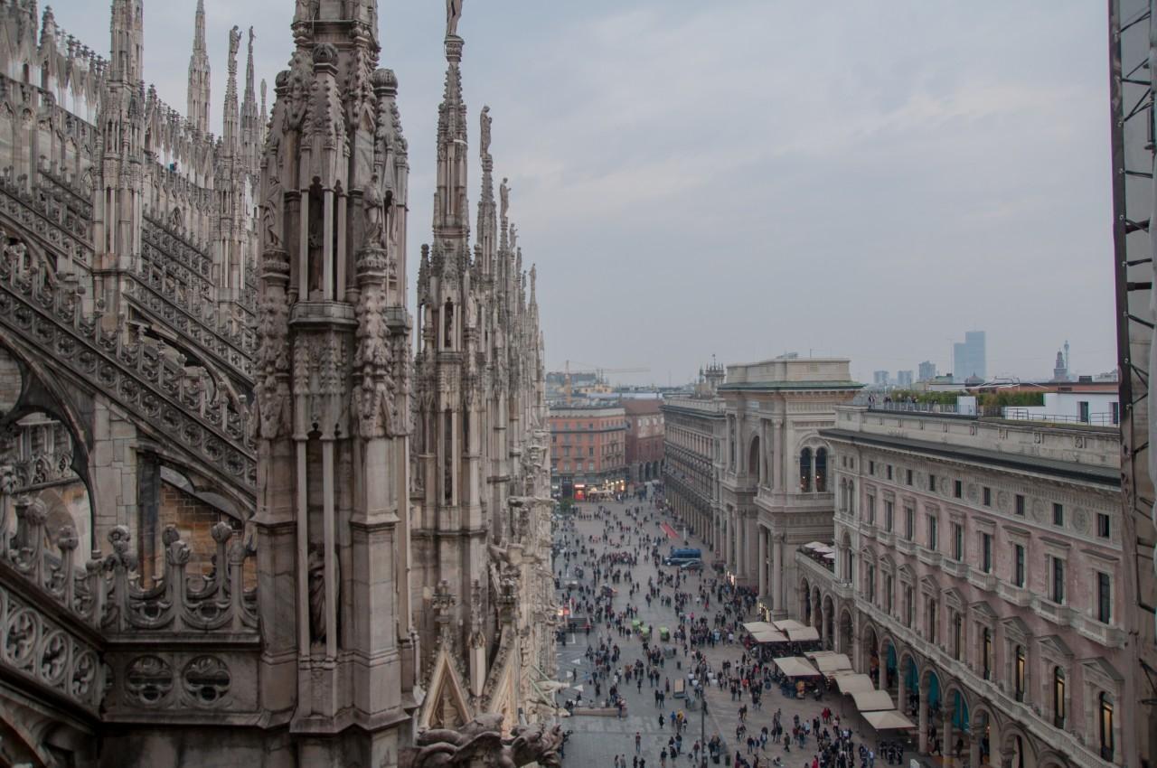 48h à Milan - toits du Duomo