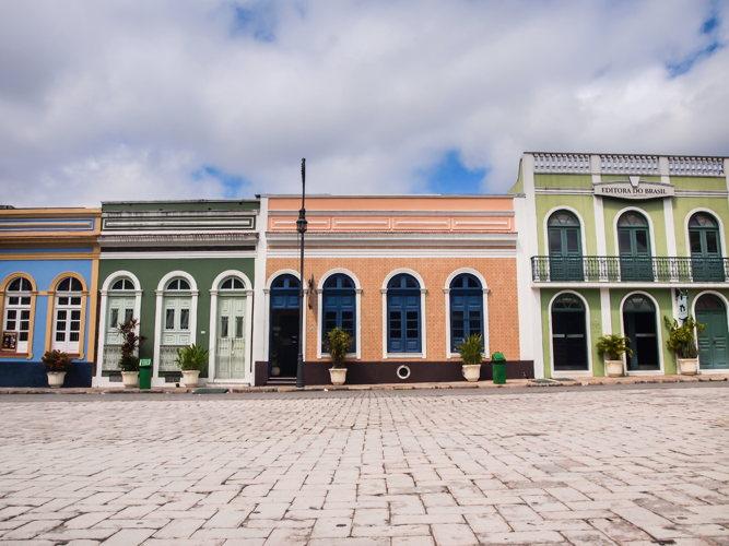 Les rues piétonnes à Manaus