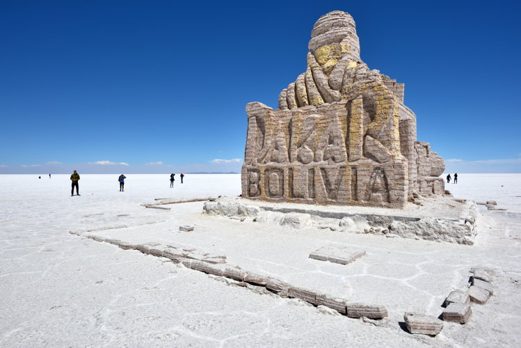 En Bolivie - Salar de Uyuni - panneau
