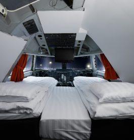 Nuitée dans un cockpit