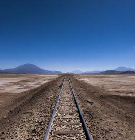 Vieil chemin de fer en Bolivie