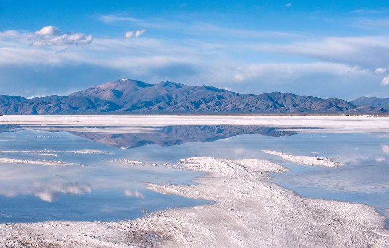 Reflet du ciel dans les Salines Grandes - Huamahuaca - road-trip Argentine