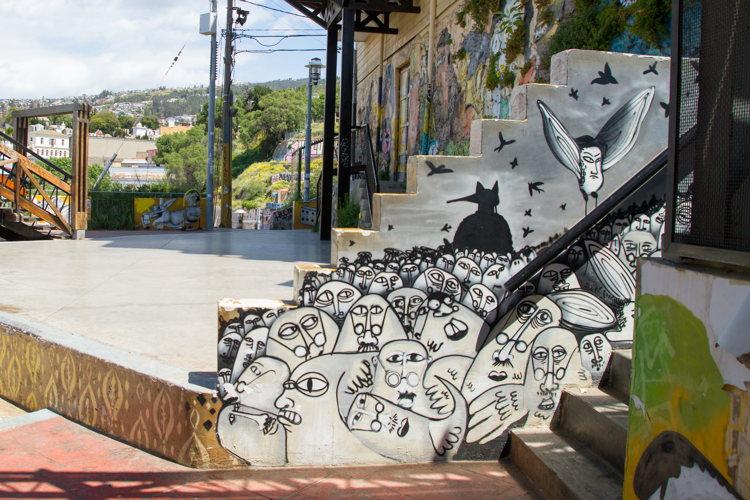 Street-art-Valparaiso-road-trip au Chili