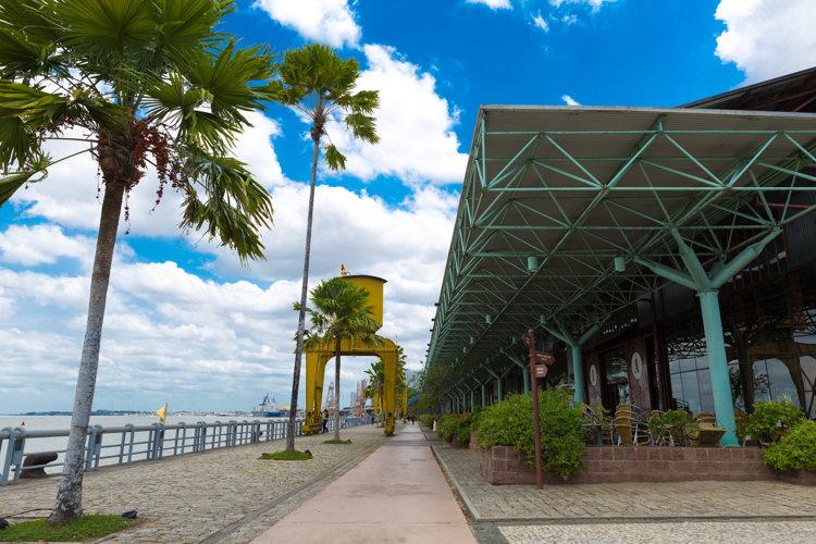 Voyage au Brésil à Bélem- dock