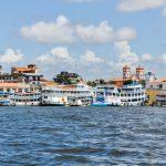 Aller au Brésil Arrêt à Santarem sur les rives de l'Amazone au Brésil