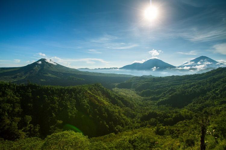 Dépaysement garanti à Ubud sur le mont batur
