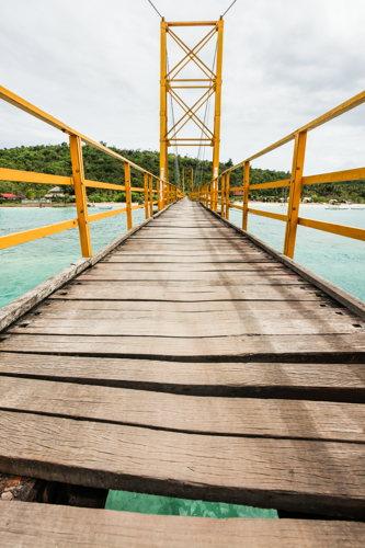 Le pont de Lembogan à Bali