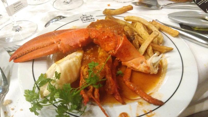 Le homard à l'américaine aux Grands Buffets à Narbonne
