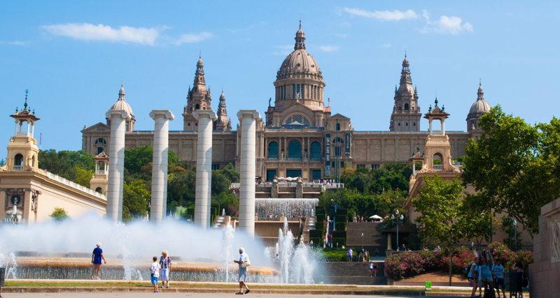 La placa de Catalunya à Barcelone