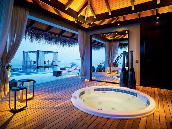 Spa au Velaa Private Island aux Maldives