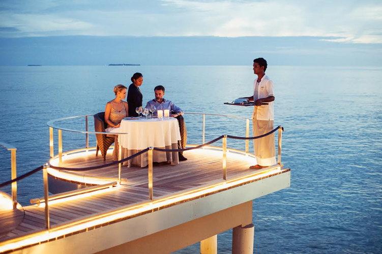 Restaurant aux Maldives