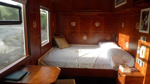 Dans un train de luxe en Andalousie