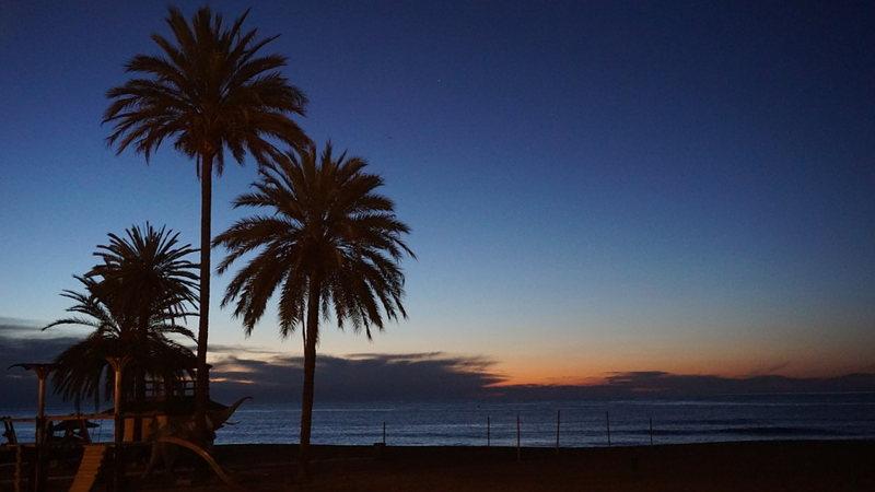 Un coucher de soleil à Marbella
